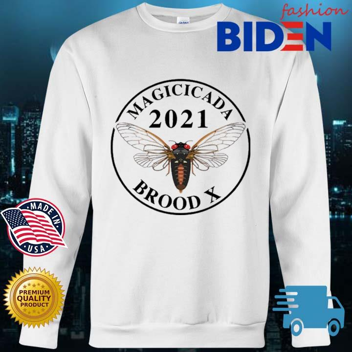 Magicicada 2021 brood X Shirt Bidenfashion sweater trang