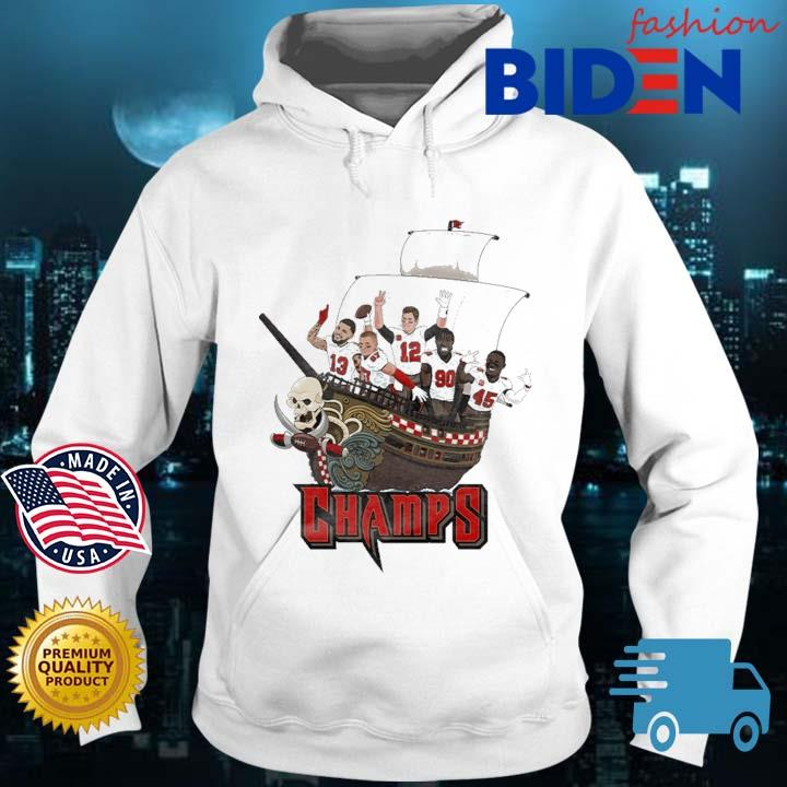 Tampa Bay Buccaneers Team Players Pirates Champs Shirt Bidenfashion hoodie trang