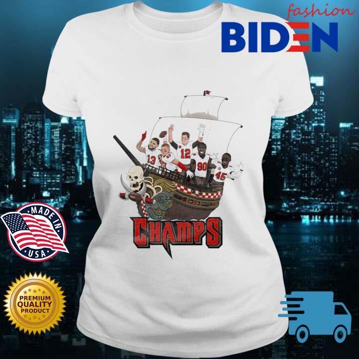 Tampa Bay Buccaneers Team Players Pirates Champs Shirt Bidenfashion ladies trang