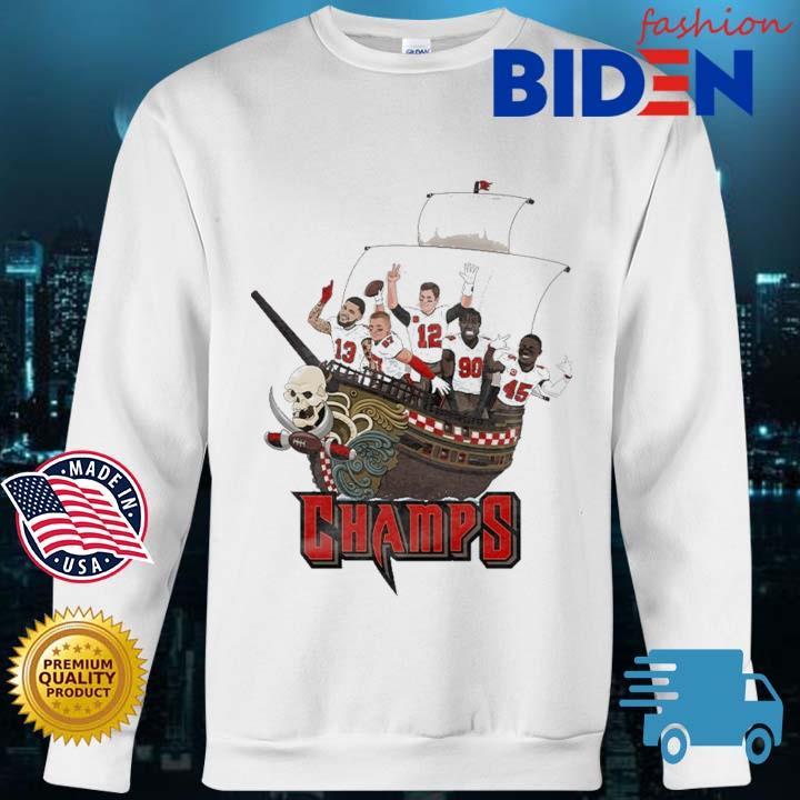 Tampa Bay Buccaneers Team Players Pirates Champs Shirt Bidenfashion sweater trang