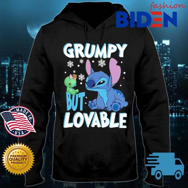 Stitch grumpy but lovable Bidenfashion hoodie den